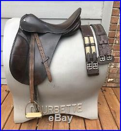17 County Competitor Dressage Saddle Set. Includes leathers, irons and 2 girths