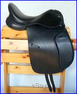 18 Dressage Leather Saddle Package Including Girth Bridle Reins Leathers