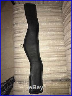 24.5 Shaped Leather Dressage Girth With Elastic