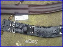 24 Black Heritage 100% English Made/leather Humane Girth Dressage Mono Saddle