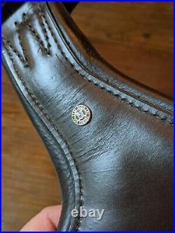 26 Schleese Leather Dressage Girth- Contoured- Brown