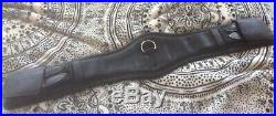 28 Inch Black Leather Childeric Dressage Girth
