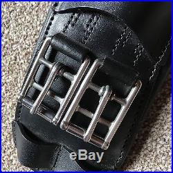 BLACK DRESSAGE GIRTH BRAND NEW English Leather 26