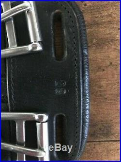 Barley used HFP Leather Dressage Girth 28 Black