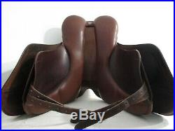 Bates Caprilli Dressage Saddle 18 PLUS soft Bates leathers and Crosby girth