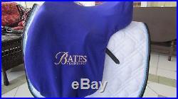 Bates Isabell Dressage Saddle 16.5 Flocked Panels with stirrup leathers & girth