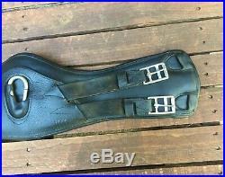 Black 24 DEVOUCOUX'V-Strap' Dressage /XC Short girth- NICE! Retail $320