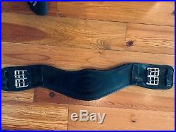 Black Country Anatomic Leather Dressage or Monoflap Girth Black, 24