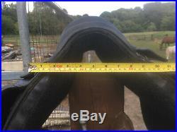 Black Saddle Company Dressage Saddle 16.5 wide with extra girth straps