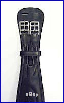 Bobby's 100% Leather Dressage Girth-Black-28