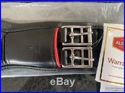 Brand New Black Albion Human Revelation 18 inch Leather Girth Dressage 18