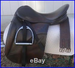 COLLEGIATE Dressage Saddle 17- GREAT! Free NEW Leathers, Stirrups, Girth, Pad