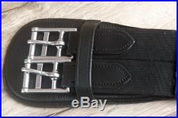 C-l-45 18 Horze Smooth Dressage Contoured Leather Horse Saddle Cinch Girth Blac