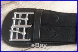C-l-85 34 Horze Smooth Dressage Contoured Leather Horse Saddle Cinch Girth Blac