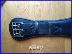 Contoured Dressage Girth 28 leather black ergonomic padded