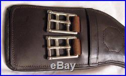 Delfina Anatomical Shoulder Relief Brown Leather Dressage English Girth 22