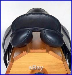 Dressage Saddle Black Premium Leather 18 Pkg-4pc Bridle Leather Irons Girth