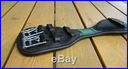 Dressage leather girth AMERIGO 60cm Anatomical soft padded with loop brown