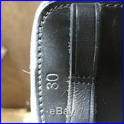 EUC Total Saddle Fit Stretch Tec shoulder relief black leather dressage girth 30