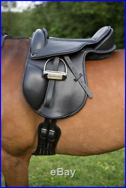 Easytrek Black Leather Short Dressage Girth Anatomical Comfort Girth All sizes