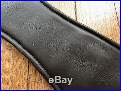 Easytrek anatomical dressage short girth soft black leather elasticated