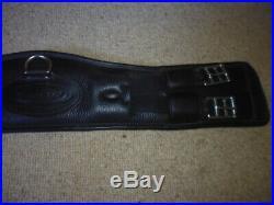 Elevator Elasticated Leather Dressage Girth black size 60cm 24 shaped padded