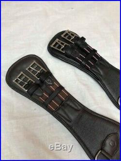 Equipride Dressage Girth Supersoft Calf Leather Nylon Boned Non Stretch