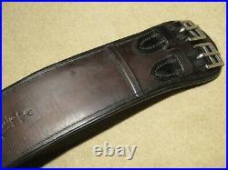 Excellent Quality MAKER MARKED Dark Brown Black Padded Size 22 Dressage Girth