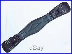 FSS Leather Wide Chest Pressure Relief Comfort Padded SHAPED Dressage Girth New