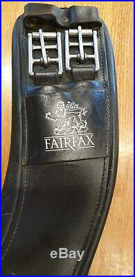 Fairfax Anatomical Dressage Girth Black 28