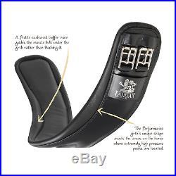 Fairfax Performance Leather Short Dressage Girth Standard Gauge Black Or Brown