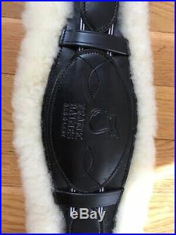 Frank Baines Black English Leather Humane Sheepskin Lined Dressage Girth 24