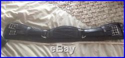 GFS 28 Inch Black Leather Humane Dressage Girth