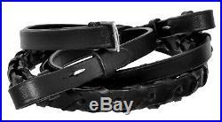 Genuine Premium Leather Dressage English Horse Saddle+Bridle, Reins, Girth, Stirrup