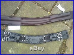 Heritage 100% English Made/leather Humane Dressage Girth Mono Saddle 28 Black
