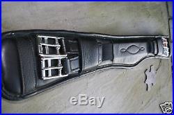 Heritage Black Brown 100% English Made Leather Dressage/mono Flap Saddle Girth