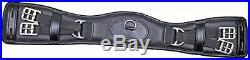 Hkm Dressage 558078 Leather Saddle Girth, Black, L