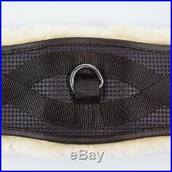Horze Black Horse Dressage Leather Removable Fleece Lined Girth (US 24/EU 60CM)