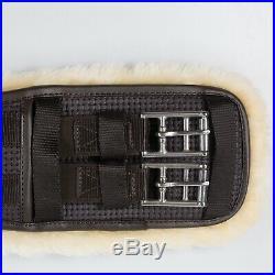Horze Black Horse Dressage Leather Removable Fleece Lined Girth (US 26/EU 65CM)
