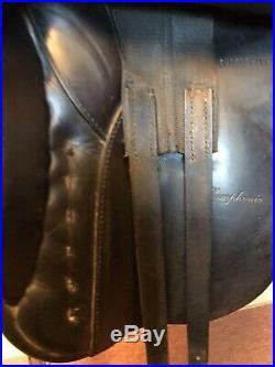 Karl Neidersuss Symphonie Dressage Saddle, 17 In, Medium, Leathers, Girth