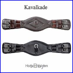 Kavalkade Comfort Super-Soft Leather Anatomical Elasticated Dressage Short Girth
