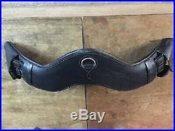 Leather Dressage Girth 26 (65cm) Beautiful Soft Leather, Padded, Anatomic Black