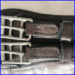 Marcel Toulouse Mono-Flap/Dressage Girth, 24, Brown, Padded, Used