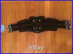 NEW Stubben Equi-Soft Dressage Girth 28, Black Leather