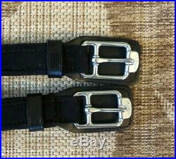 NEW Stubben Horse Equi-Soft Leather Dressage Girth 30 BLACK