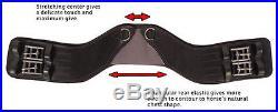 NEW Total Saddle Fit StretchTec Shoulder Relief Dressage Girth Black 26
