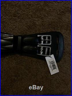 NWT Collegiate Contour 2 Buckle Dressage Girth Black 24 Leather