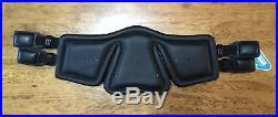 NWT STUBBEN Equi-Soft Ergonomic Flexible Leather Dressage Girth 24 60cm BLACK