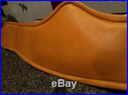 New Dressage Girth BRUNO DELGRANGE Size 24 Light Brown Leather Memory Foam
