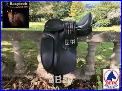 New Easytrek Treeless Dressage Saddle, Girth & Leathers Black